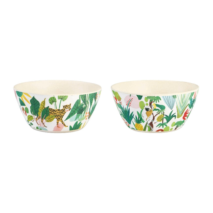 Bodil Jane Tropical Set of 2 Bamboo Bowls