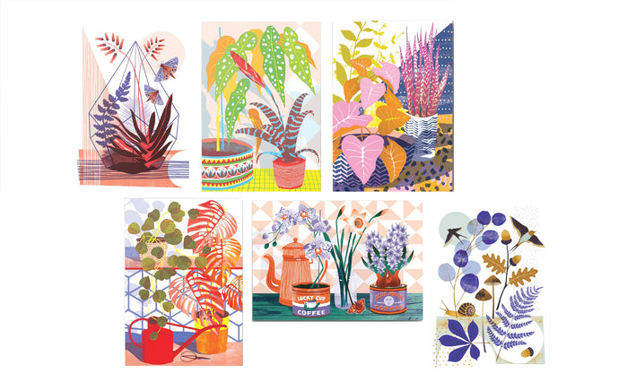 Botanical Plant A6 Postcard Pack by Printer Johnson