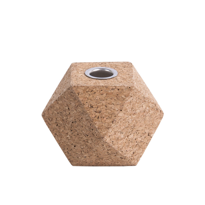 Hexagon Cork Candle Holder