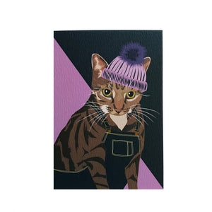 Cleo the Cat Greeting Card