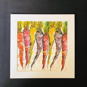 Carrot Ink and Watercolour Digital Art Print - ad&i