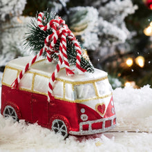 Load image into Gallery viewer, Coming Home For Xmas Love Camper Van Shaped Bauble