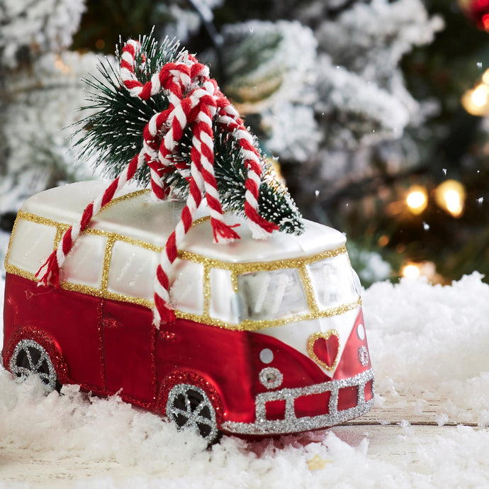 Coming Home For Xmas Love Camper Van Shaped Bauble - ad&i
