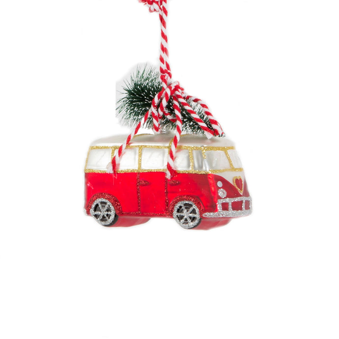 Coming Home For Xmas Love Camper Van Shaped Bauble
