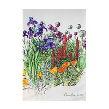 Load image into Gallery viewer, Country Flower Garden Tea Towel