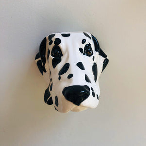 Ceramic Dalmatian Head Wall Sconce Vase - ad&i
