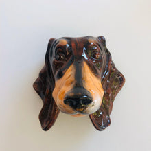 Load image into Gallery viewer, Ceramic Dachshund Head Wall Sconce Vase - ad&i