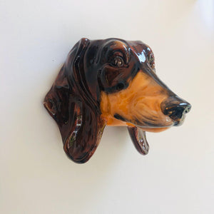 Ceramic Dachshund Head Wall Sconce Vase - ad&i