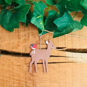 Woodland Deer and Toadstool Garland