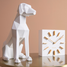 Load image into Gallery viewer, 3D Sitting Dog Geometric Ornament - White - ad&i