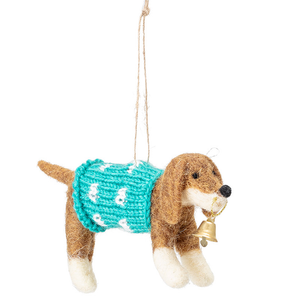 Dog in a Christmas Jumper Tree Decoration - ad&i