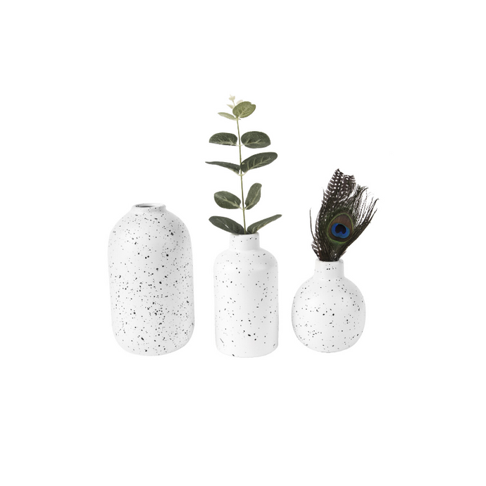 Dotted Ceramic Vase Set of 3