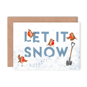 Let it Snow Christmas Card by Emily Nash