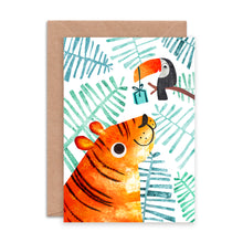 Load image into Gallery viewer, Tiger and Toucan Card