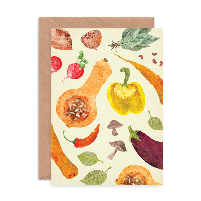 Vegetables Pattern Card