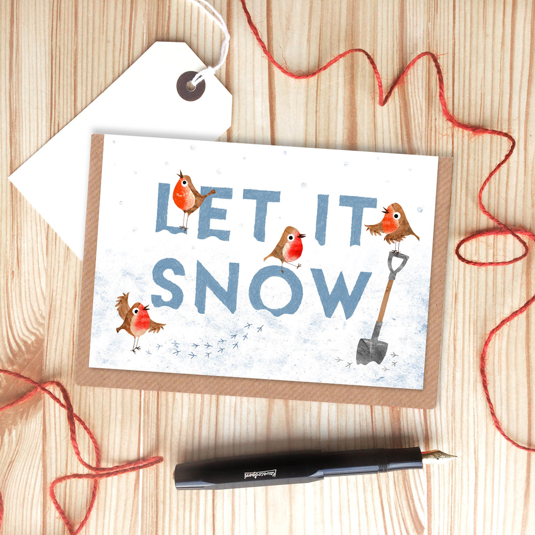 Let it Snow Christmas Card by Emily Nash - ad&i