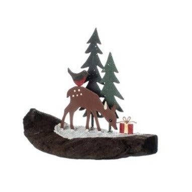 Festive Fawn Christmas Table Top Decoration