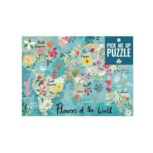 500 Piece Flowers of the World Jigsaw Puzzle
