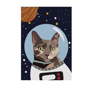 Frieda the Astro Space Cat Greeting Card
