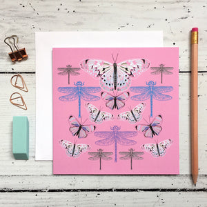 Butterflies and Dragonflies Greeting Card - ad&i