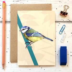 Blue Tit Greeting Card - ad&i