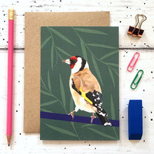 Load image into Gallery viewer, Goldfinch Greeting Card - ad&i