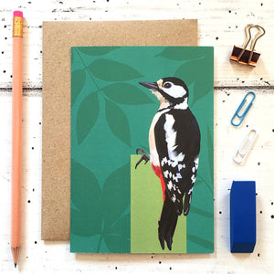 Woodpecker Greeting Card - ad&i