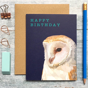 Barn Owl Birthday Card - ad&i