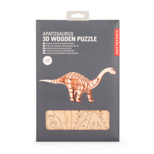 Load image into Gallery viewer, 3D Apatosaurus Dinosaur Wooden Puzzle