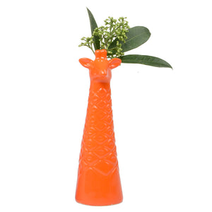 Novelty Orange Giraffe Bud Vase - ad&i