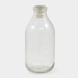 Glass Milk Bottle with Cork Stopper - ad&i
