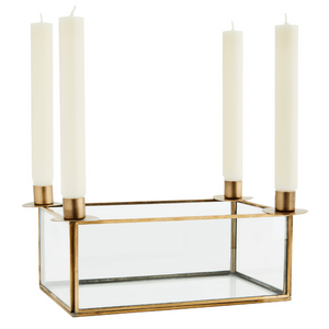 Glass Box Candlestick Holder