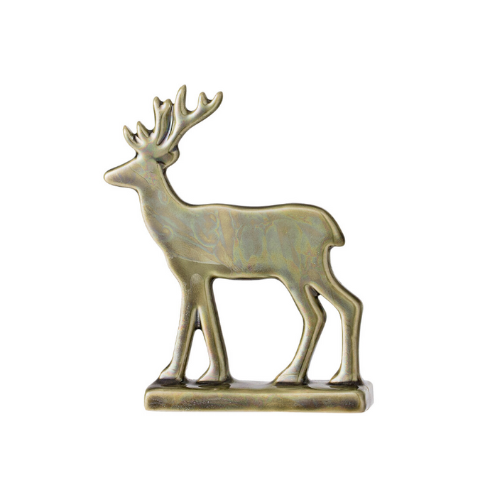 Deer Decorative Ornament - Green