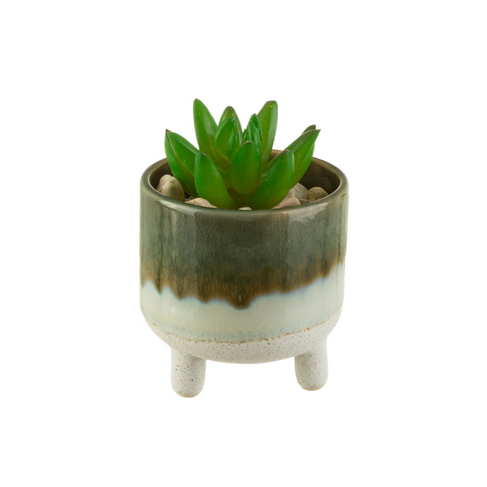 Mojave Glaze Green Planter on Legs