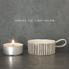Load image into Gallery viewer, Striped Handled Tealight Holder