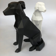 Load image into Gallery viewer, 3D Sitting Dog Geometric Ornament - Black - ad&i