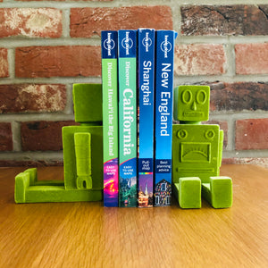 Green Flock Robot Bookends