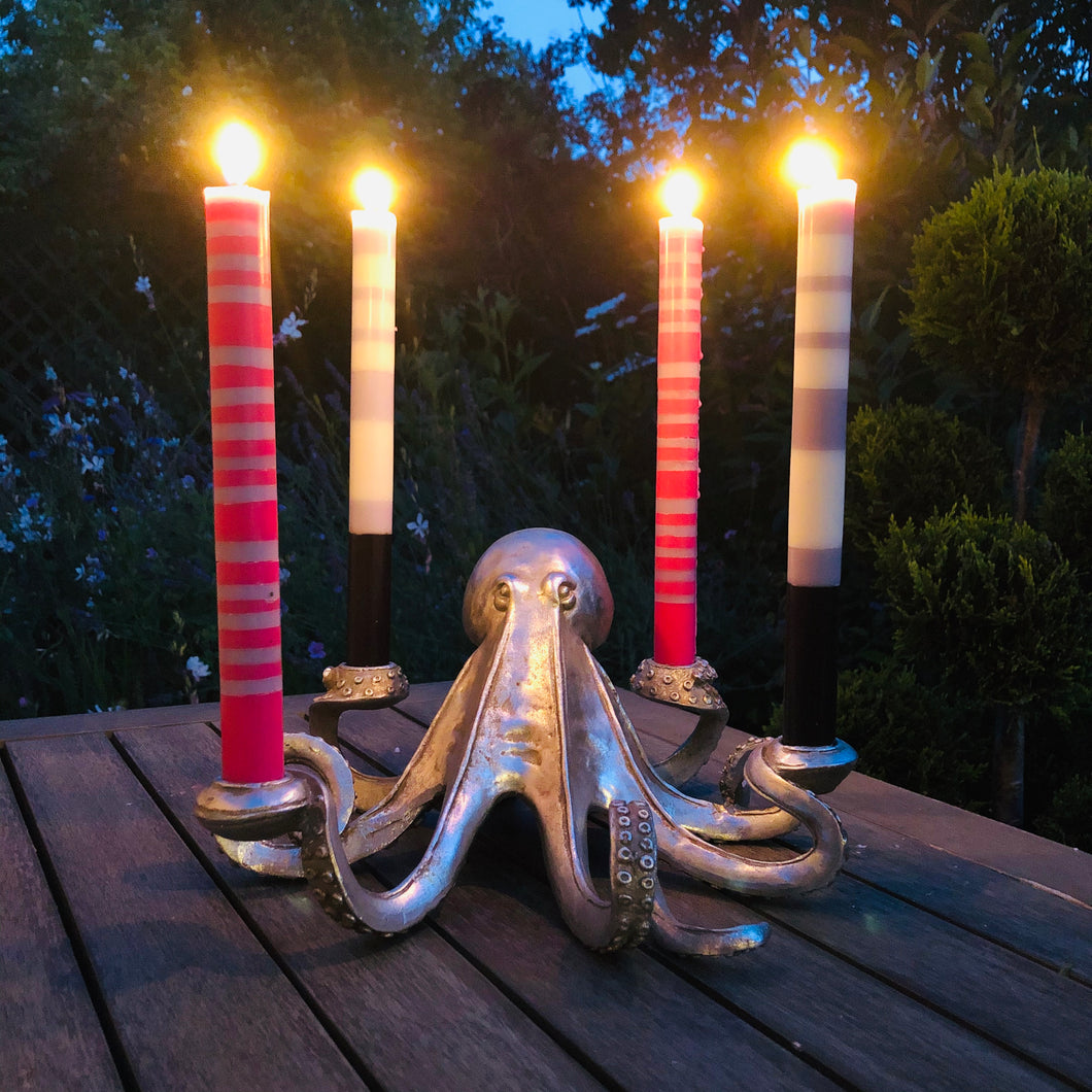 Silver Octopus Candlestick Holder - ad&i