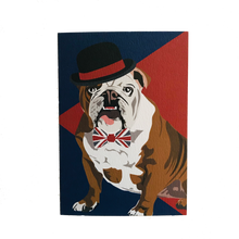 Load image into Gallery viewer, Churchill the British Bulldog Greeting Card
