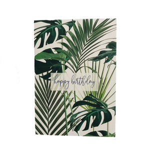 Tropical Leaves Birthday Card - ad&i