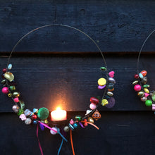 Load image into Gallery viewer, Charmed Tealight Holder Hoop - ad&i