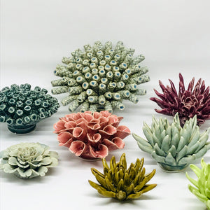 Olive Cactus Coral Flower Decor