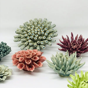 Green Cactus Coral Flower Decor - ad&i
