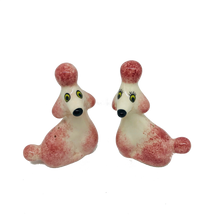 Load image into Gallery viewer, Pink Poodle Salt and Pepper Shaker Set - ad&i