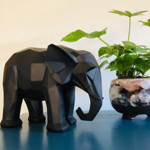 3D Elephant Geometric Ornament