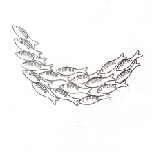 Load image into Gallery viewer, Just Keep Swimming Fish Wall Art - Silver - ad&i