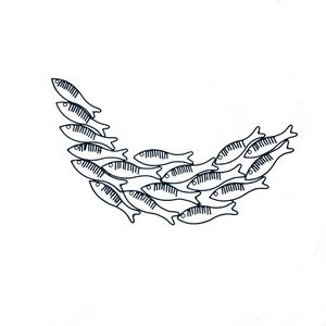 Wire Shaped Just Keep Swimming Fish Wall Art - Blue - ad&i