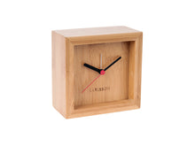 Load image into Gallery viewer, Franky Square Bamboo Alarm Clock