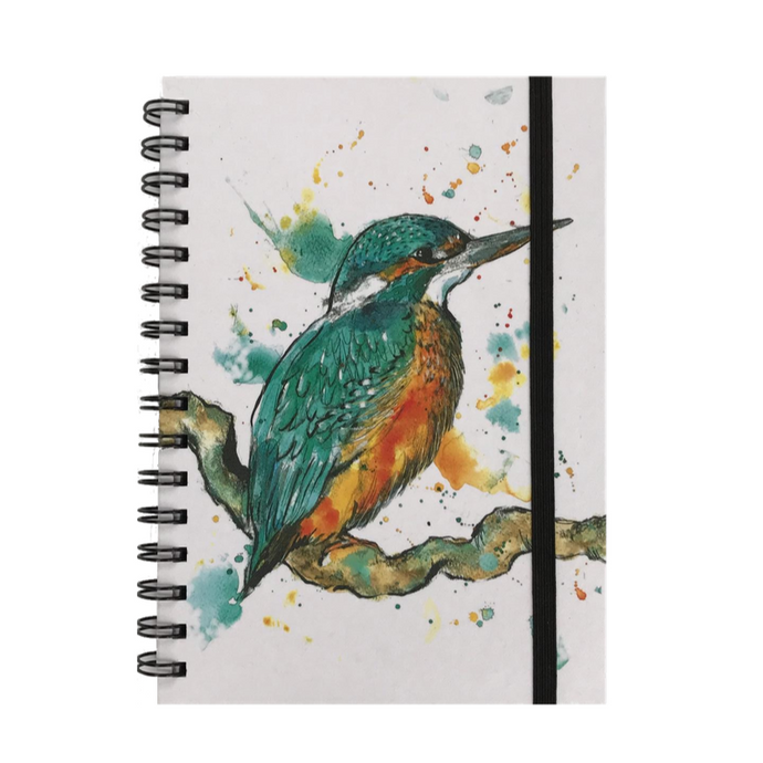 Kingfisher Print A5 Hardback Spiral Bound Notebook - ad&i