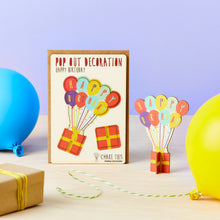 Load image into Gallery viewer, Pop Out Happy Birthday Balloons Card - ad&i